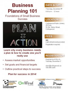 Business Plan Workshop Dec 5th
